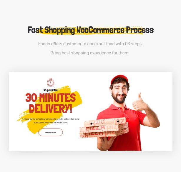 Foodo WooCommerce- Fast Food Restaurant WordPress Theme