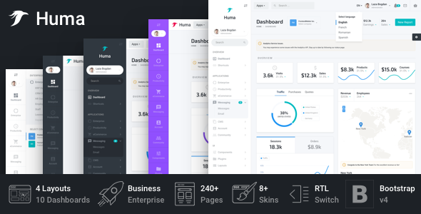 Huma - Bootstrap Business Admin Template