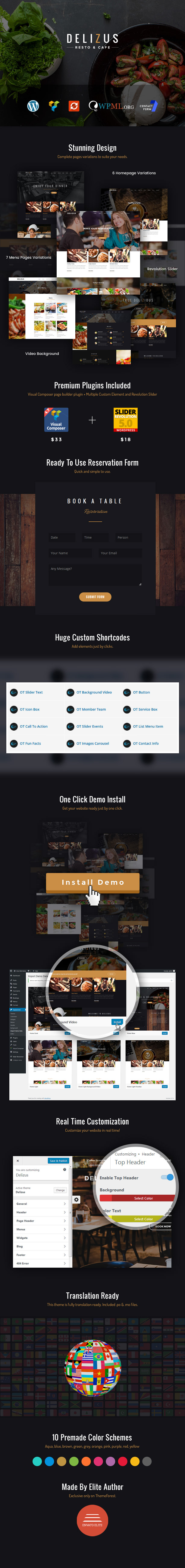 Delizus | Restaurant Cafe WordPress Theme