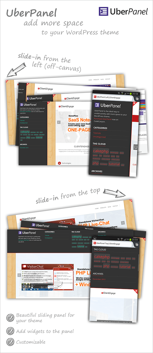 UberPanel - Sliding Panel Plugin for WordPress - 1