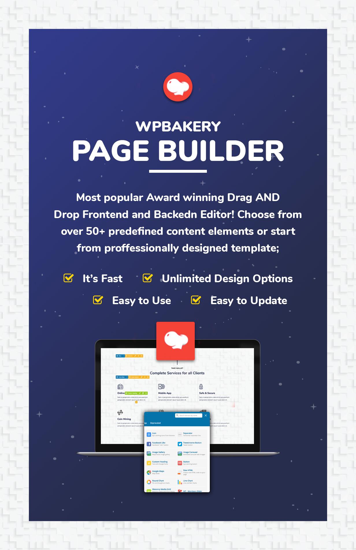 Cryptokn - ICO Landing Page & Cryptocurrency WordPress Theme - 4