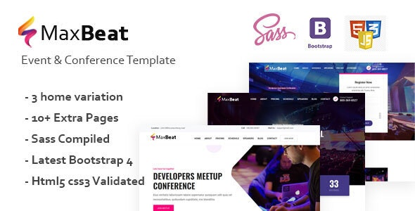 Maxbeat - Event & Conference HTML5 Template - Events Entertainment