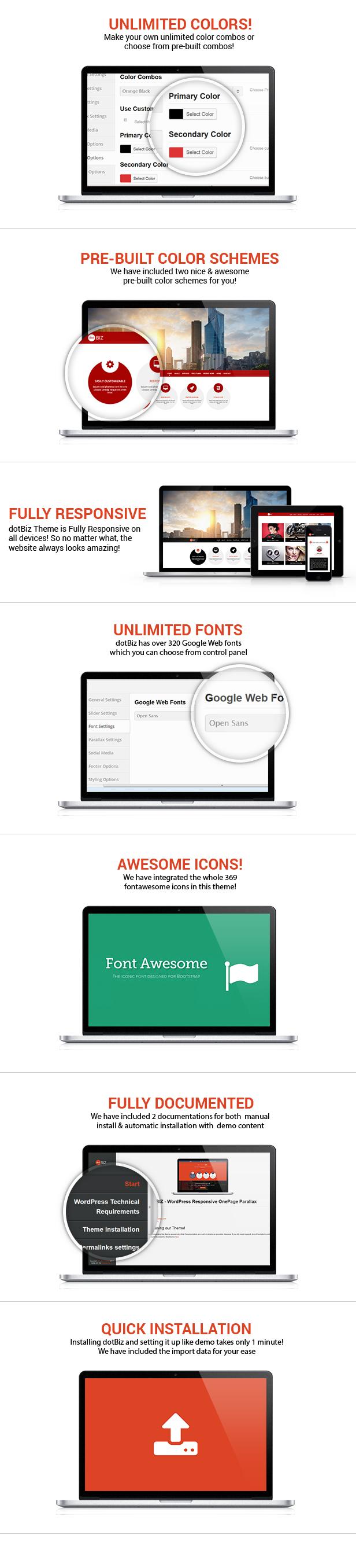 dotBIZ - WordPress Responsive OnePage Parallax  - 5