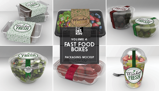 fast food boxes vol 4 take out packaging mock ups by ina717