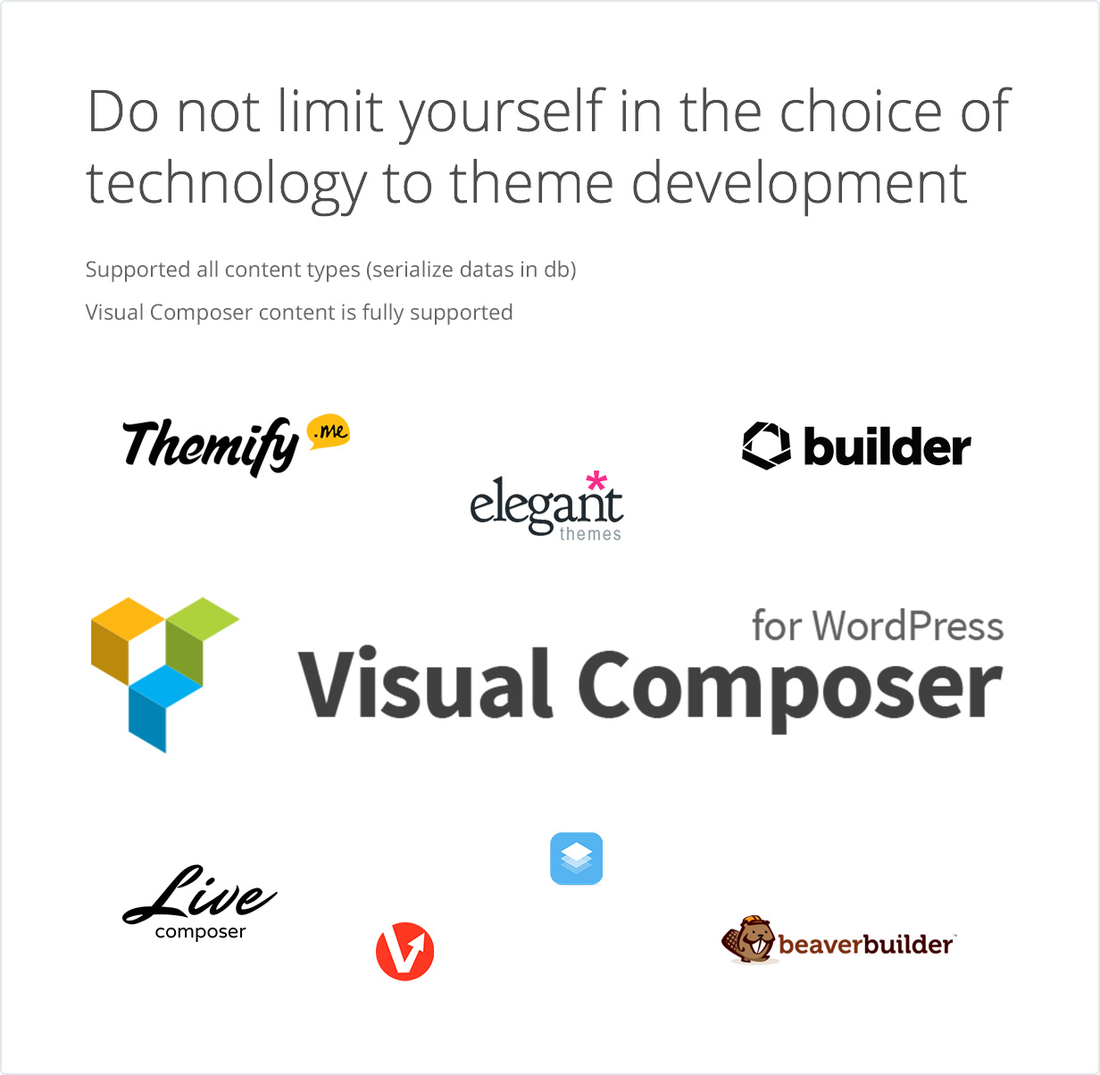 Do not limit yourself in the choice of technology to theme development