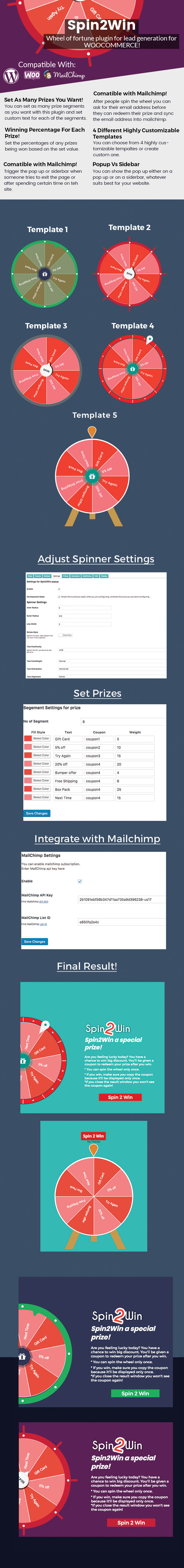 Spin2Win - WooCommerce Wheel Of Fortune Wordpress Plugin For Email Lead Generation - 1