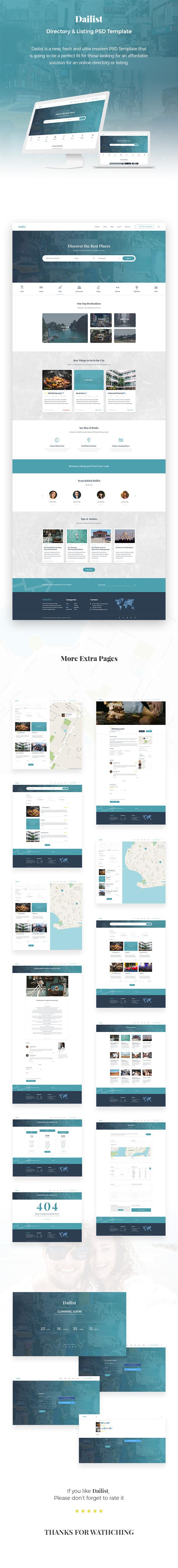 Dailist - Directory & Listing PSD Template - 1