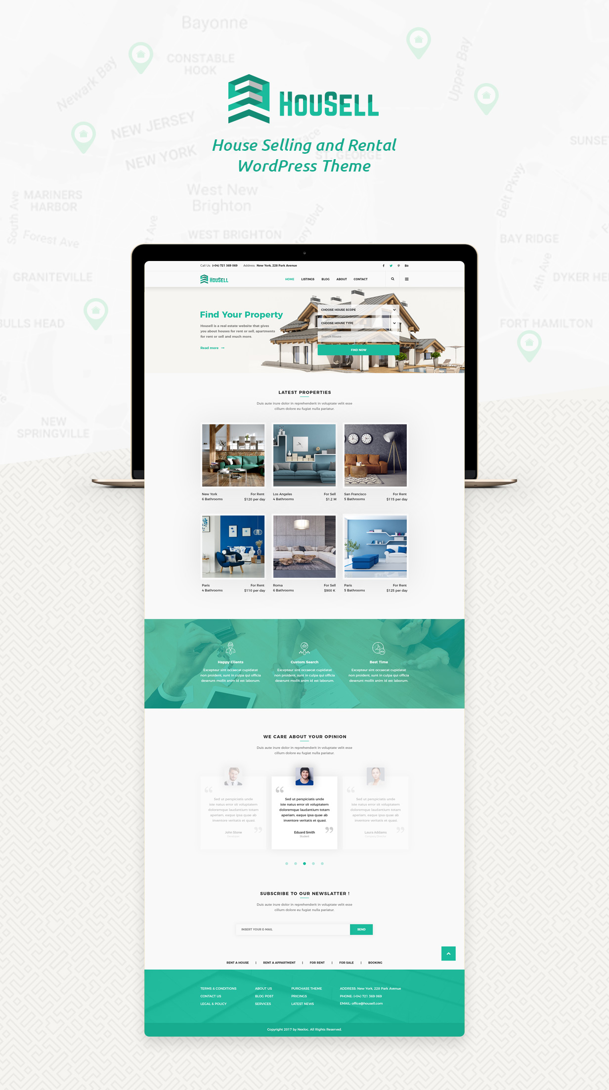 Housell - Modern Real Estate WordPress Theme - 1