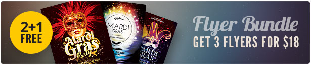 Mardi Gras Flyer Bundle Vol.02