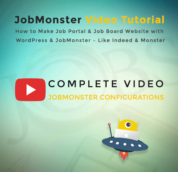 Jobmonster Job Board WordPress theme Video Tutorial