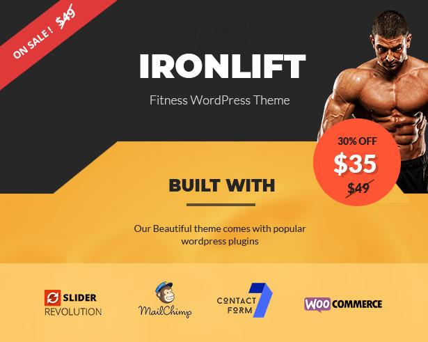 IronLift - Fitness and Gym WordPress Theme - 1