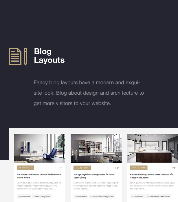 Design Interior Architecture Architect  WP Theme by cmsmasters