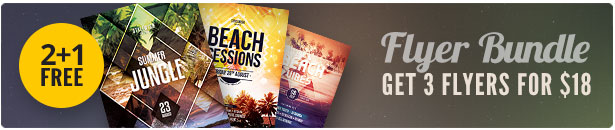 Summer Beach Flyer Bundle Vol.02