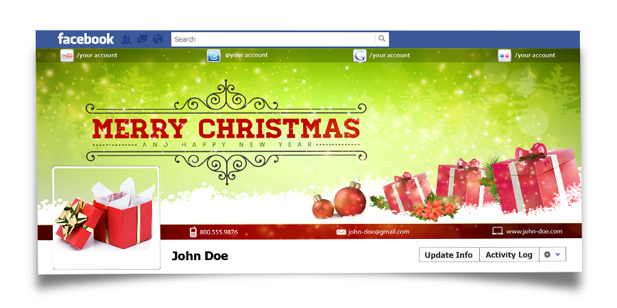 Christmas Real Estate Twitter Cover - 8
