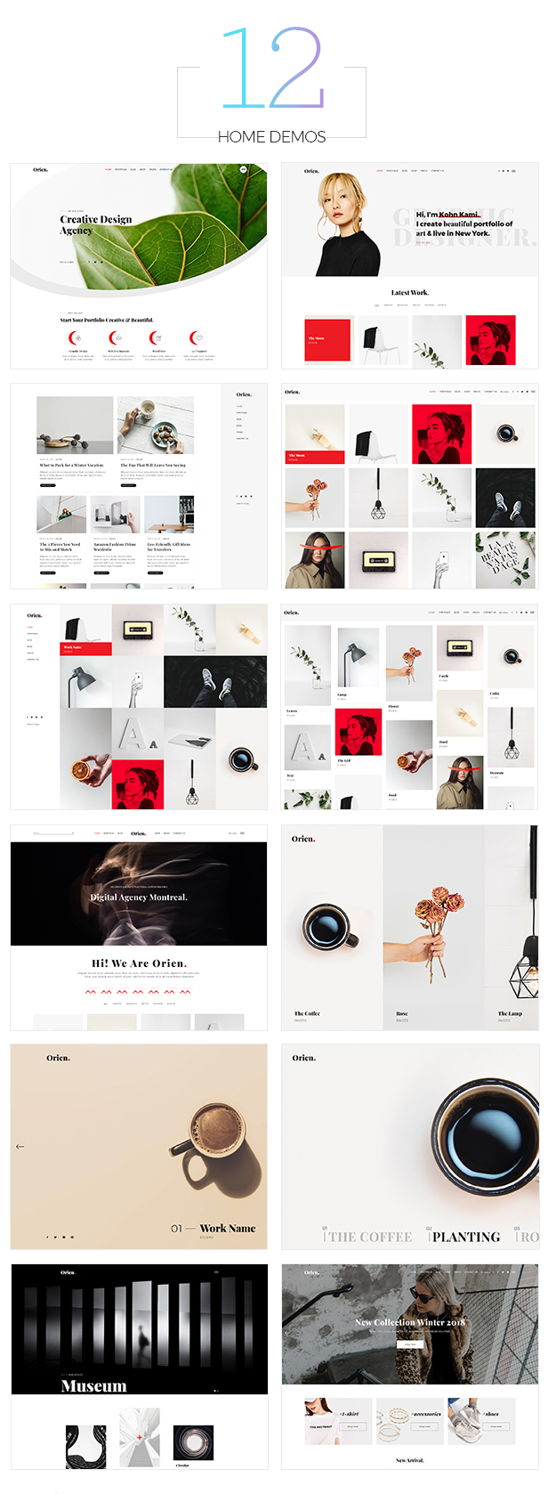 Orien - Creative Portfolio WordPress Theme - 4