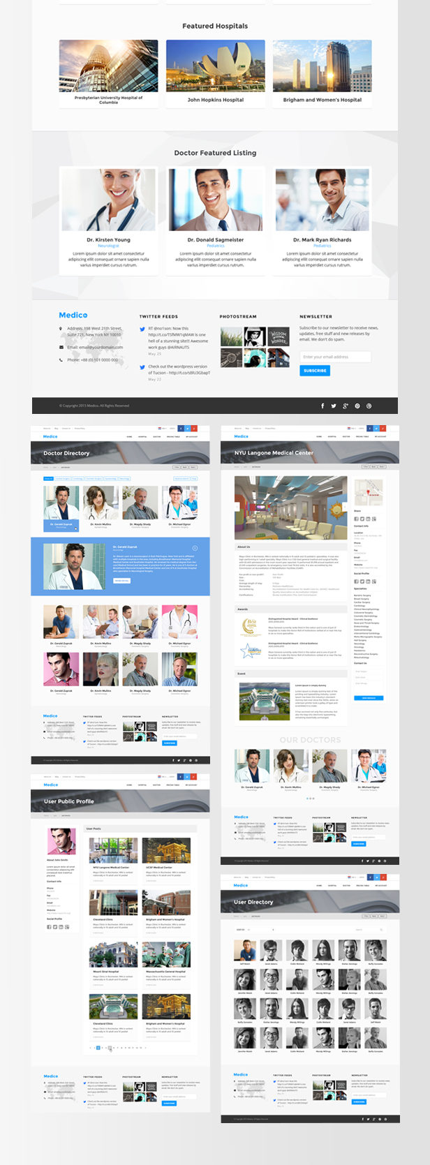 Medical Directory - Hospitals & Doctors Listing Theme - 3