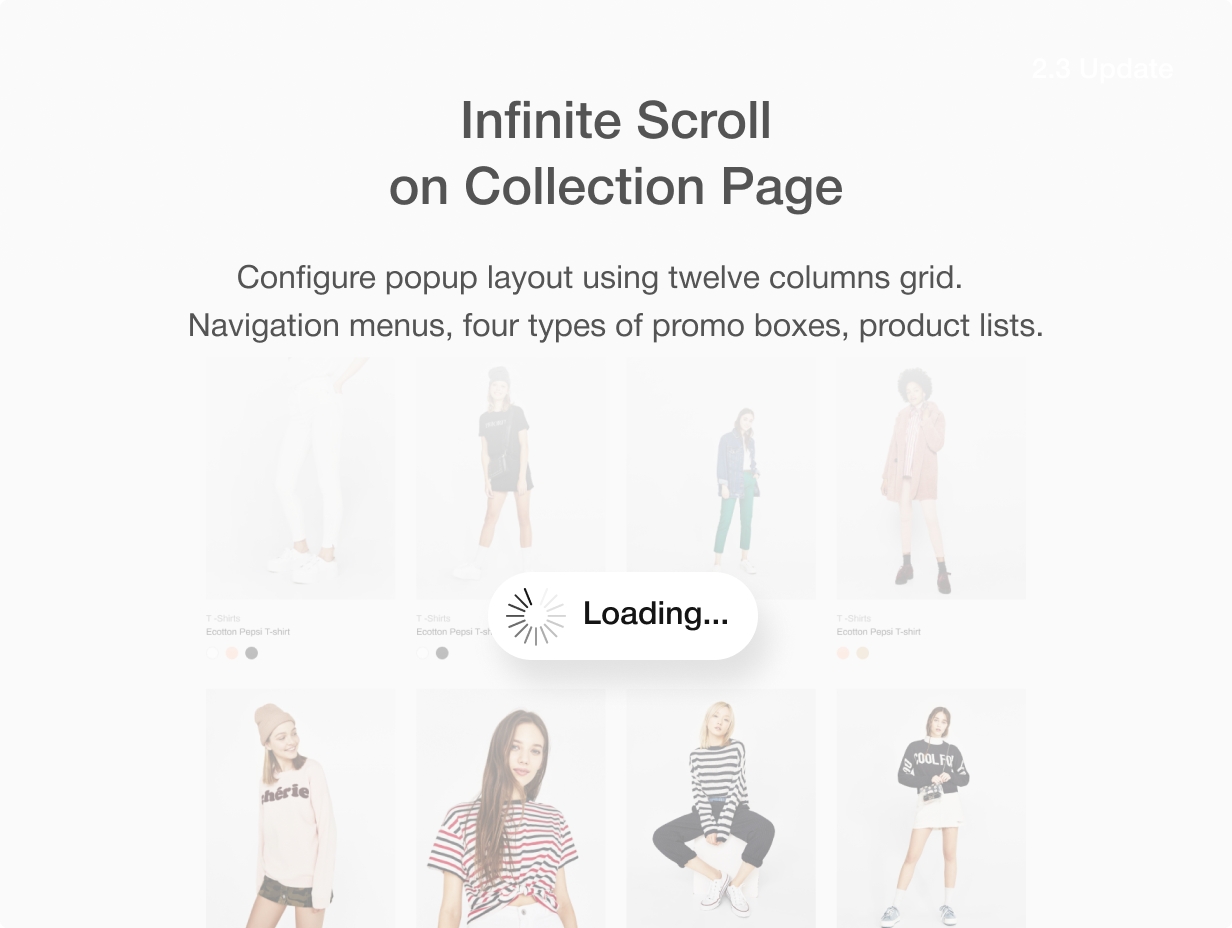 Infinite scroll on collection page
