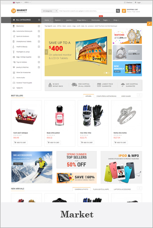 Market - Multipurpose eCommerce HTML Template