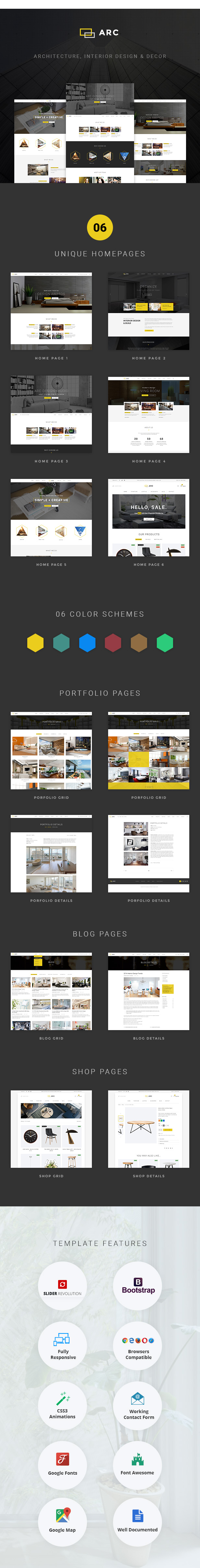 ARC - Interior Design, Decor, Architecture Business Template by ...
