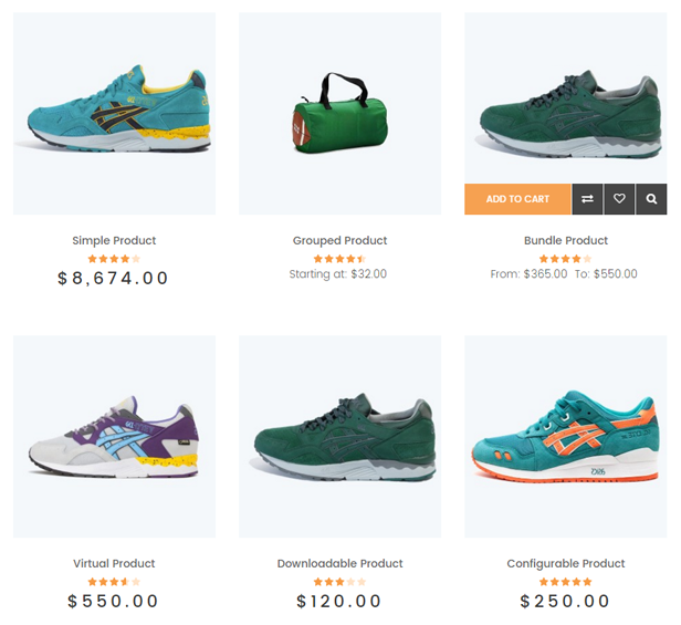 FCstore - 6 product types