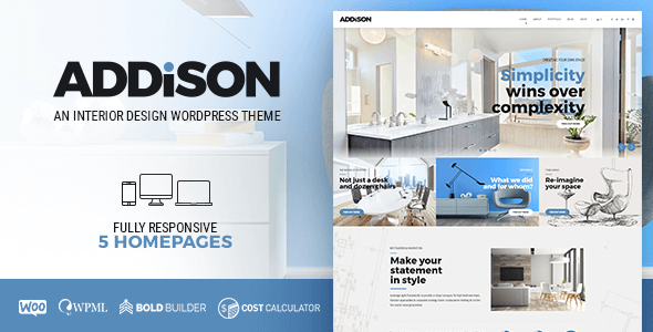 Addison - Interior Design & Decoration WordPress Theme