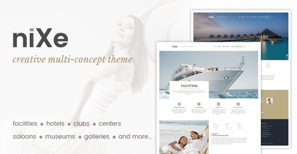 Nixe | Hotel, Club, Travel, SPA and Holiday WordPress Theme - Travel Retail