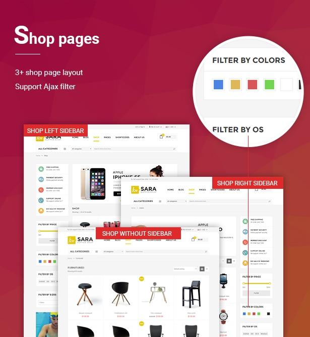Sara - WooCommerce WordPress Market Theme - 4