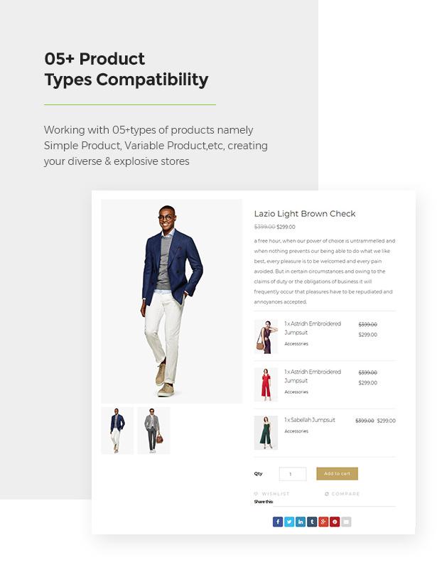 Support 05+ Product Types Limonta - Modern Fashion WooCommerce WordPress Theme