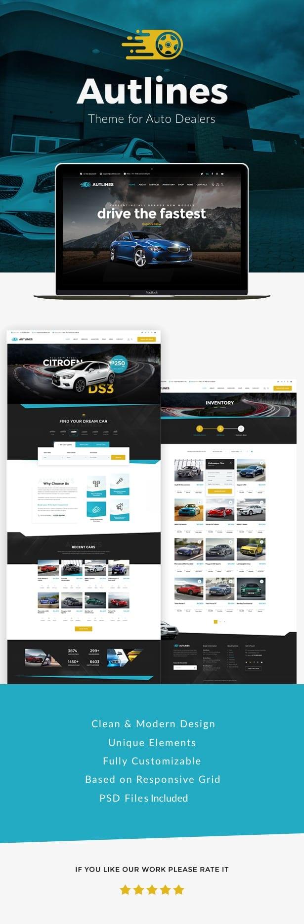 Autlines - Automotive  WordPress Theme - 1