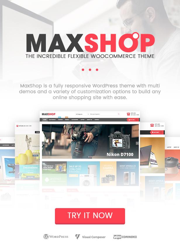 Maxshop - WordPress WooCommerce Theme