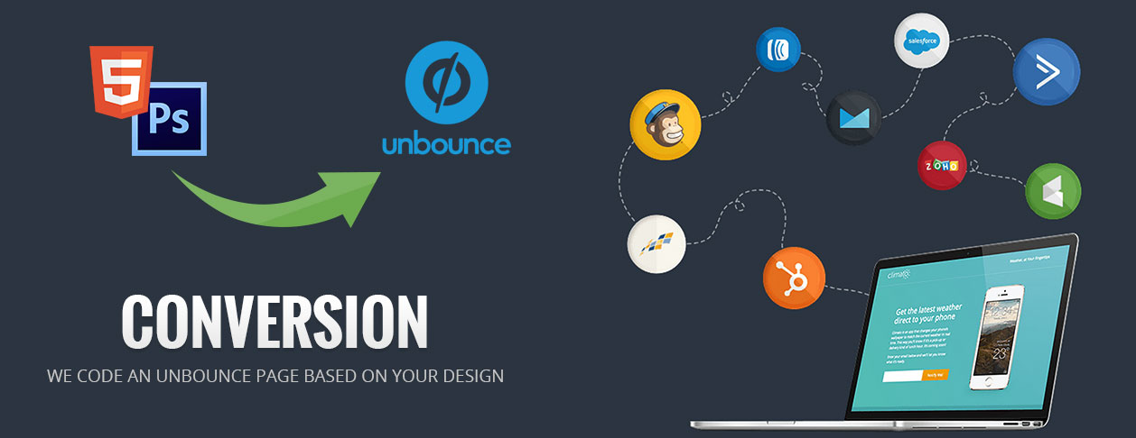 Convert from PSD to Unbounce