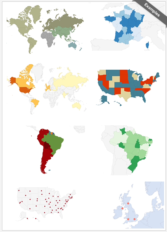 Interactive World Maps - 1