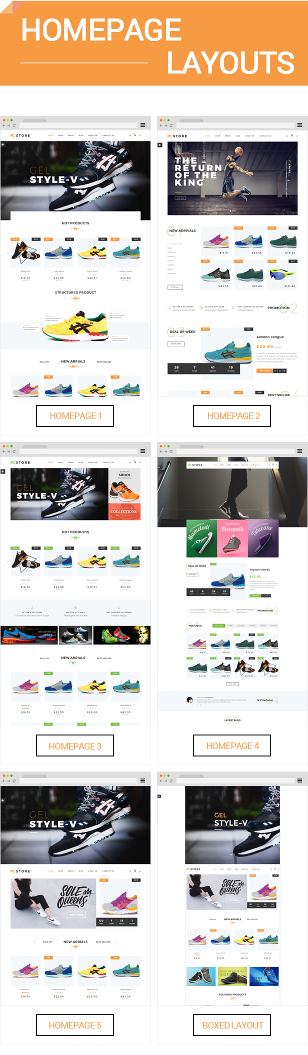 FCstore - Homepage