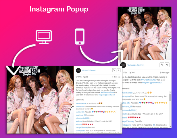 Elementor - Instagram Social Stream Grid With Carousel