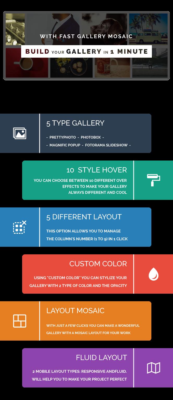 Fast Gallery Mosaic - WordPress Plugin - 1
