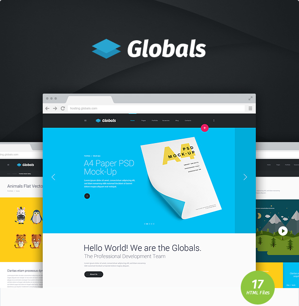 Globals - Material & Bootstrap HTML Template - 5