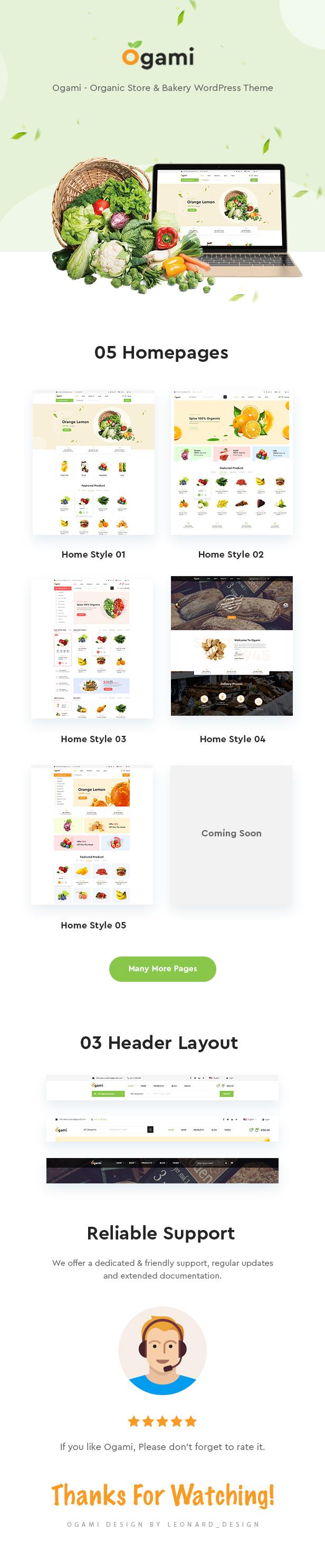 Ogami - Organik Mağaza WordPress Teması - 4
