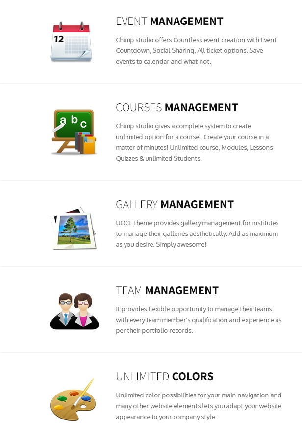 Online courses management system