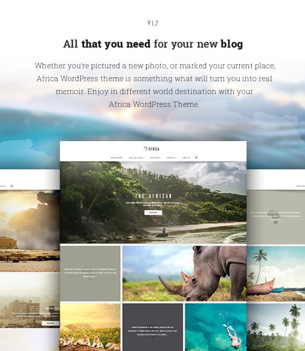 Africa - WordPress Blog Theme - 1