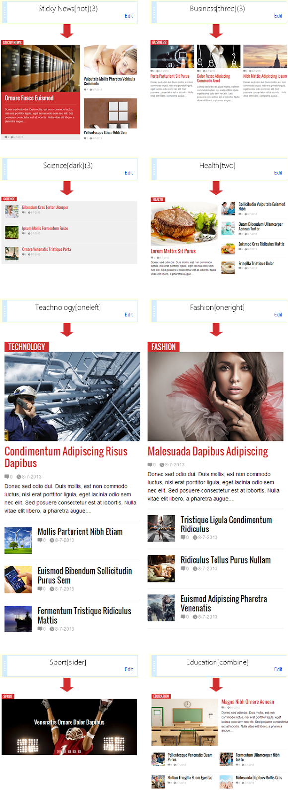 Flat News - Easy News & Magazine Template - 3