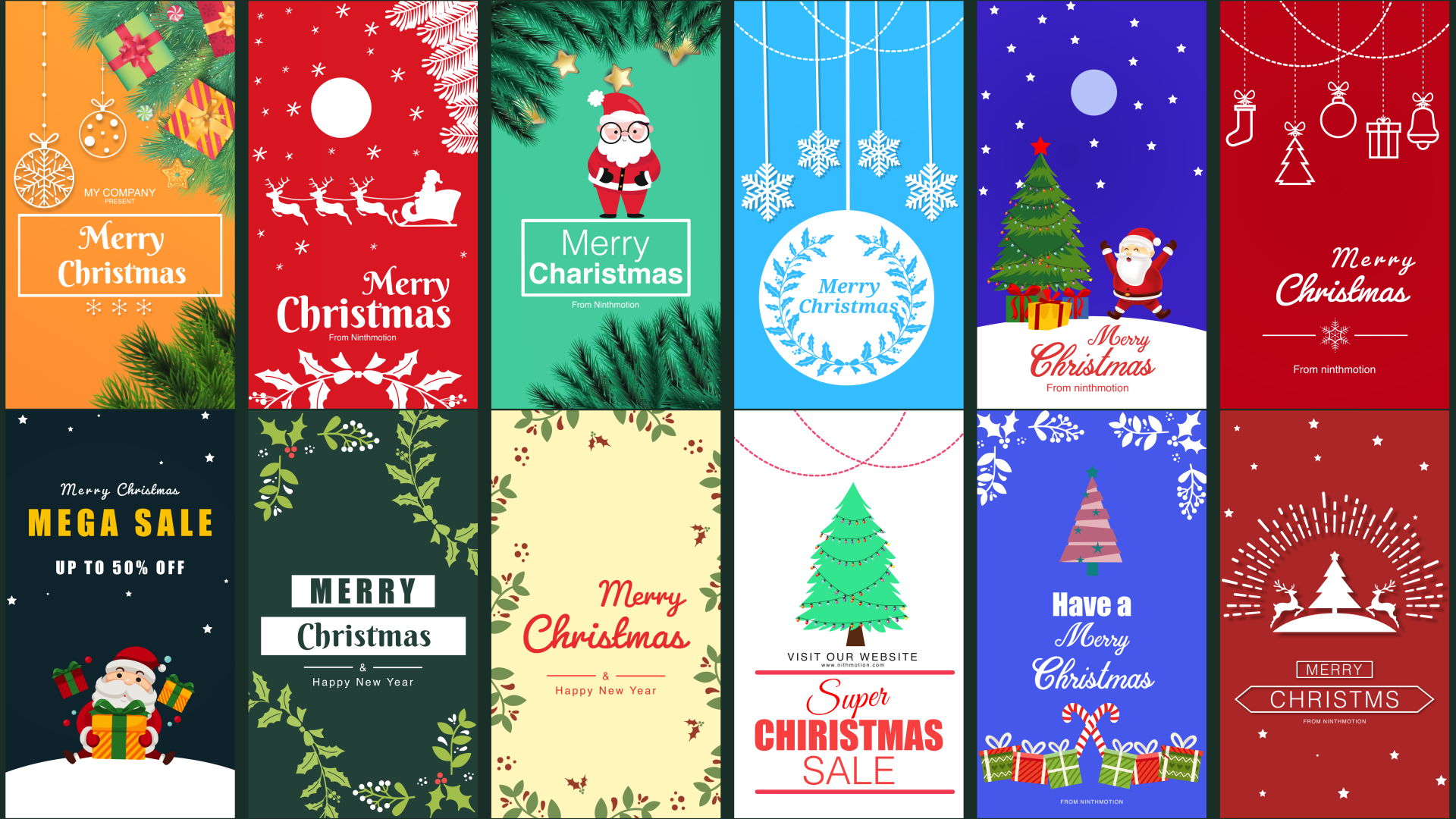 Christmas Instagram Story Pack by ninthmotion | VideoHive