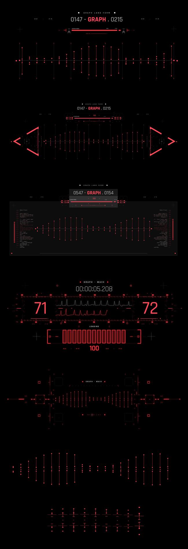 AE脚本-500个HUD高科技赛博朋克UI科幻界面元素动画预设包 Cyberpunk HUD UI 500+ 已修复中文版AE表达式报错插图27