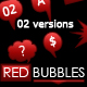 Red Bubbles Collection (02 Versions) - GraphicRiver Item for Sale