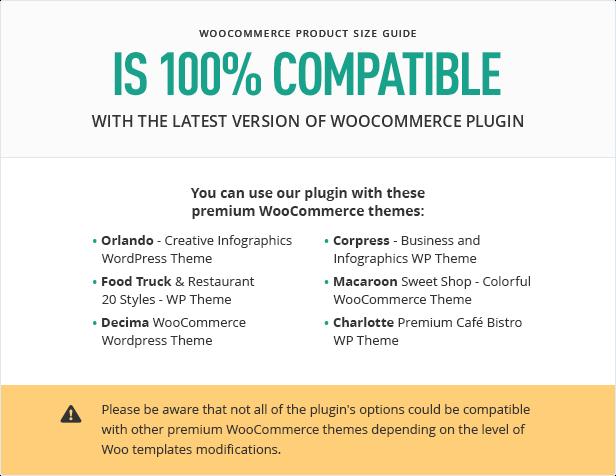 Size guide compatibility