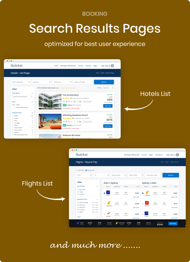 hotel, flight, train and bus booking html template