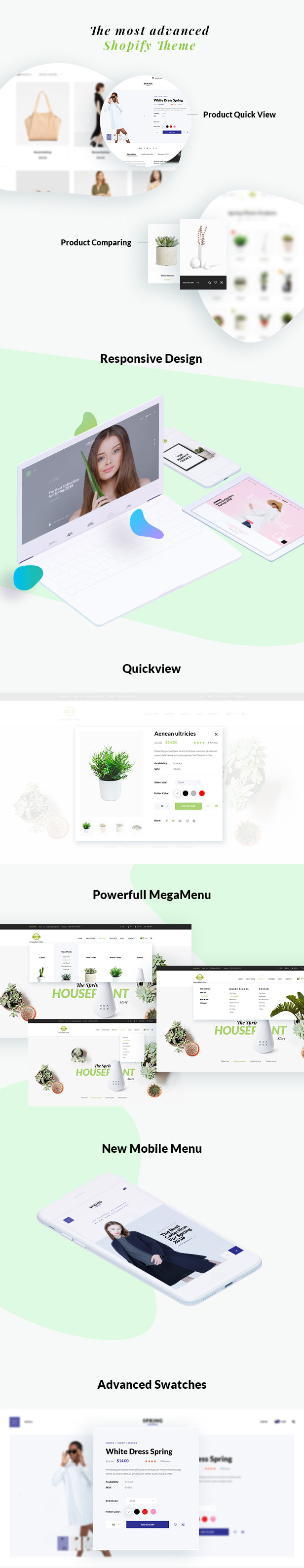 Shopify theme spring more features