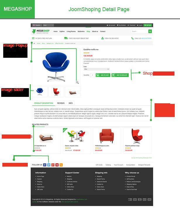 Megashop- JoomShopping detail page