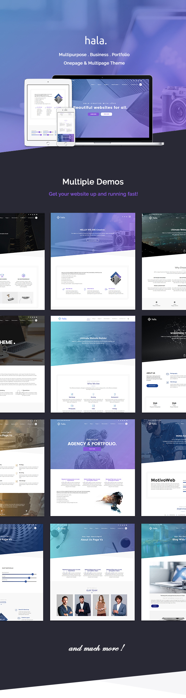 Hala Creative Multi-Purpose WordPress Theme
