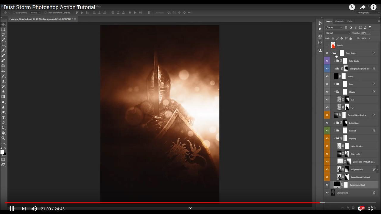 Dust Storm Photoshop Action - 3