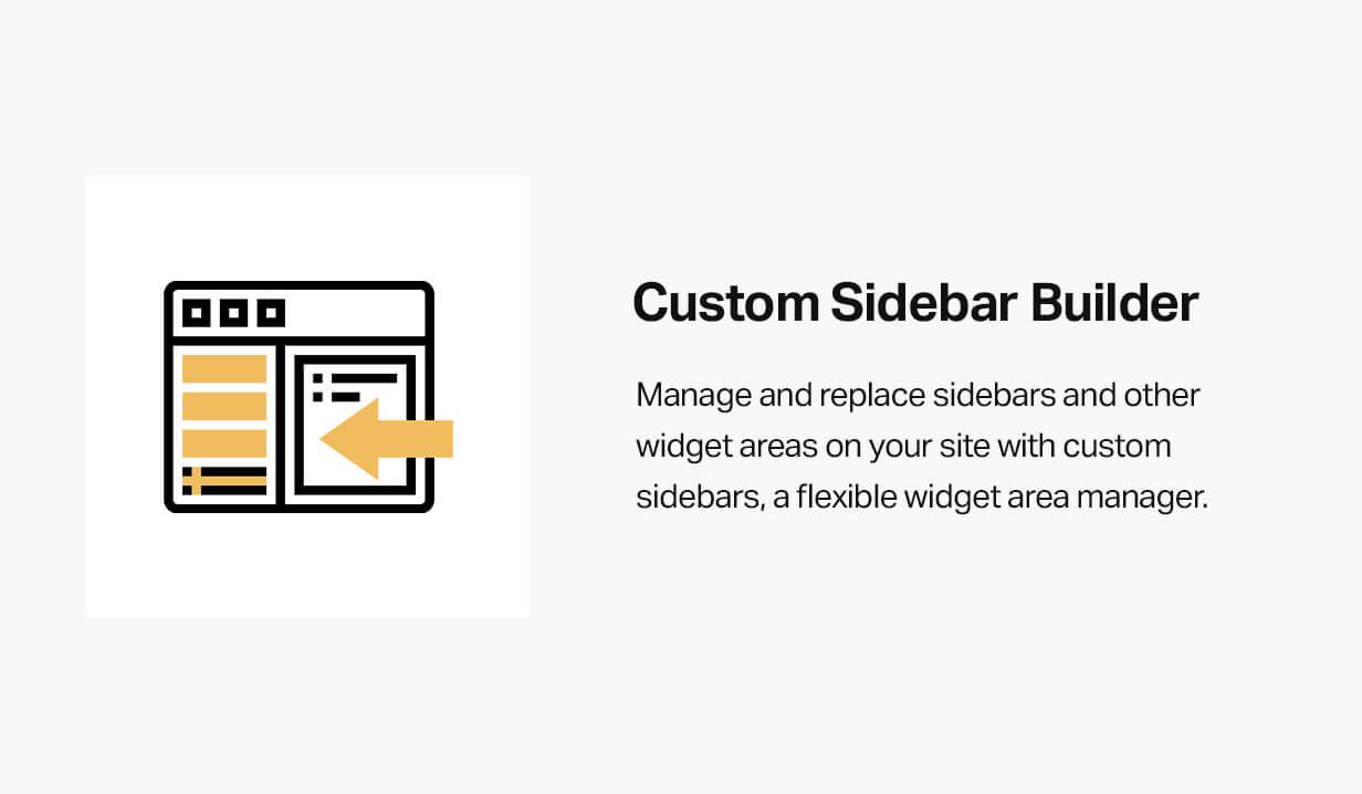 Custom sidebar builder